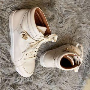 Coach leather high top sneakers